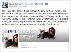 I have used this service twice! Transporting my pet from France to the UK after our holidays.